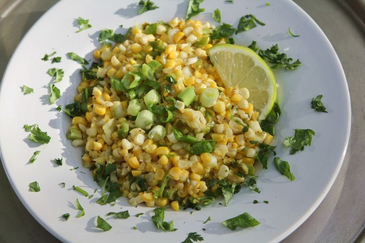 """Corn Sauté with Fresh Ginger, Garlic and Cilantro is surprisingly delicious with grilled or roasted fish, chicken or pork, or as a salsa over tacos. It's a great way to bring """"summer"""" to the table any time of year!"""