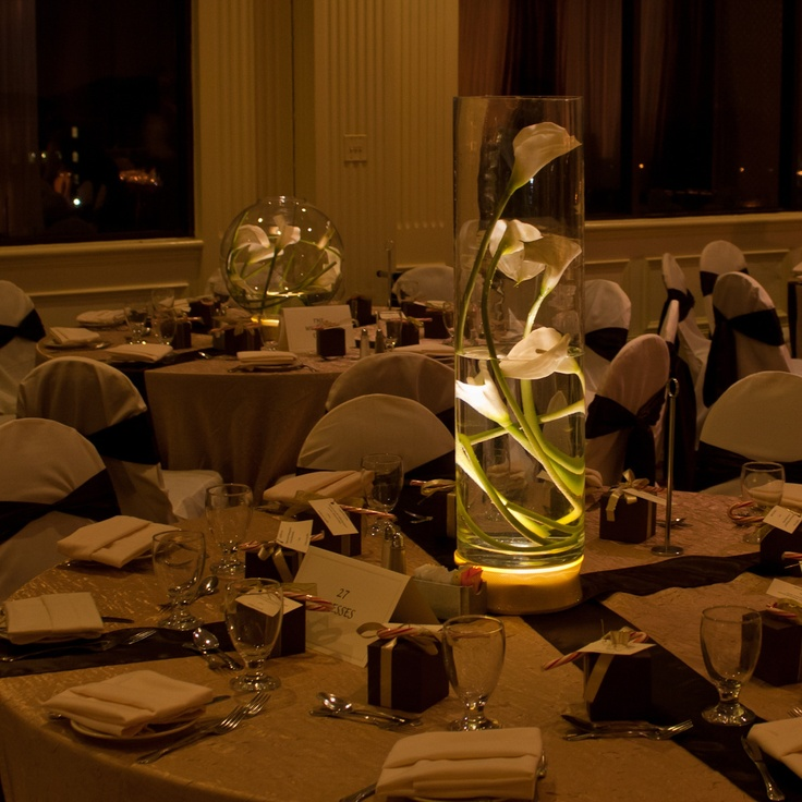 Evening Wedding Reception Decoration Ideas: Centerpieces By Elliott Events