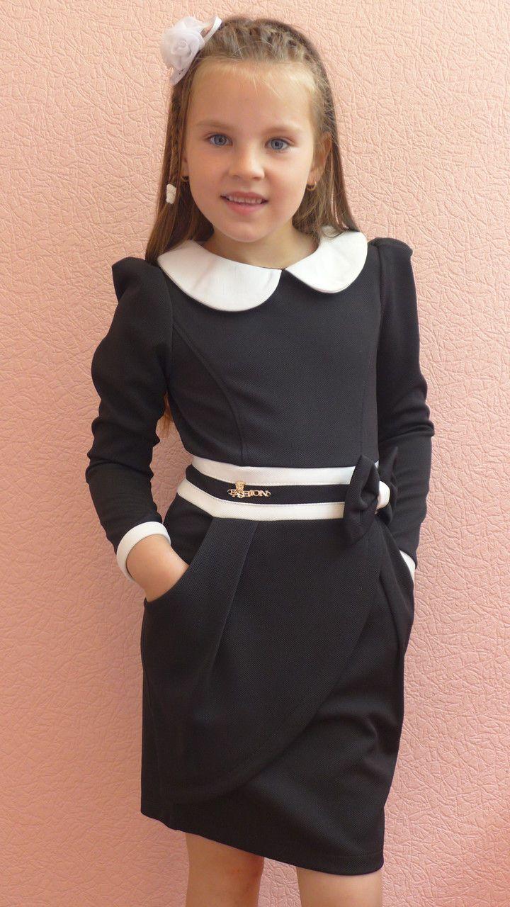 """Школьное платье """"запах"""" (черный), цена 280 грн., купить в Одессе — Prom.ua…"""