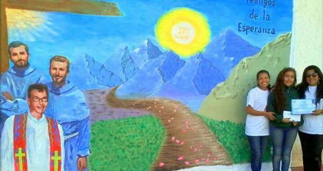 Alumna del colegio Santa Rosa ganó concurso de murales en honor a los mártires en Chimbote   Chimbotenlinea.com