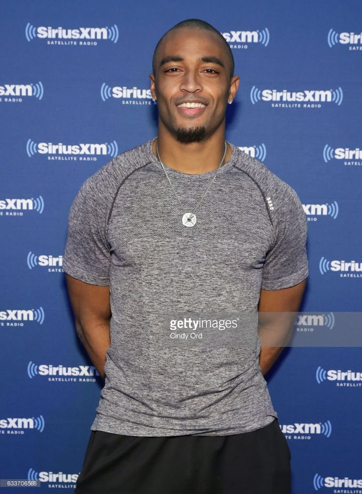 Seattle Seahawks wide receiver Doug Baldwin visits the SiriusXM set at Super Bowl LI Radio Row at the George R. Brown Convention Center on February 3, 2017 in Houston, Texas.