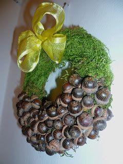 Őszi makkos koszorú - Wreath with acorn