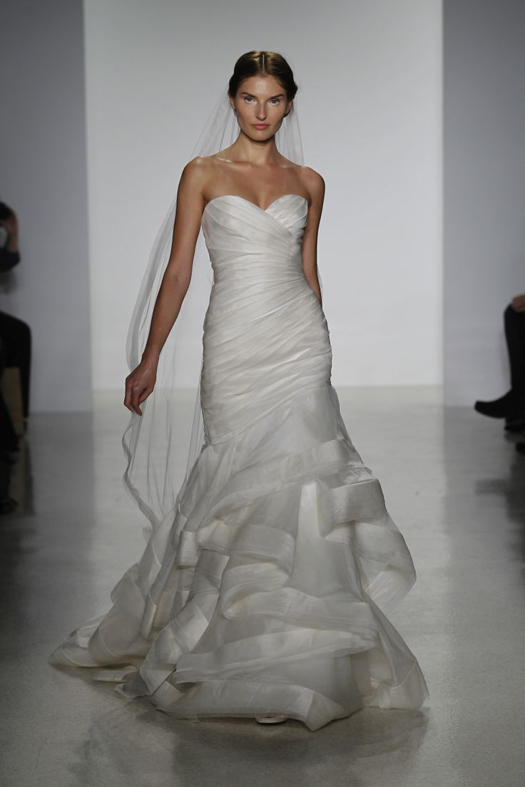 15 best kelly faetanini wedding dresses images on for Silk organza wedding dress