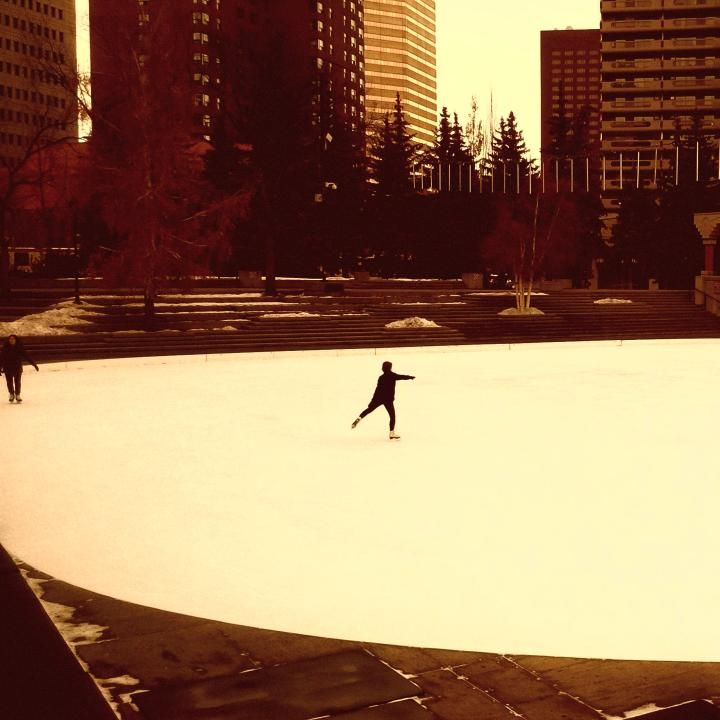 Skating in Olympic plaza any day of the week, try it before work