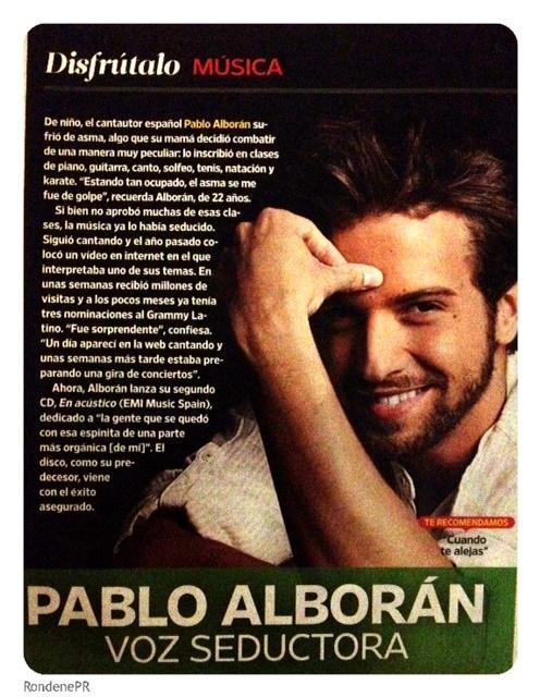 Pablo Alborán en People en Español (Edición Abril)