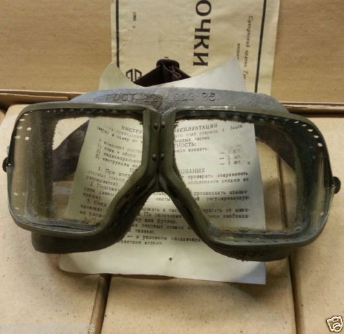 Authentic Soviet Army Glasses,   Aviation,Pilot,Tankman,Protective ,Goggles, WW2  Strip can vary in color from the photos  These items are from warehouse Soviet army and might have some storage wear !  Not use. With warehousing Soviet army  Made in the Soviet Union in the 80s. #russianarmy #russian #russiansouvenirs #russianstyle