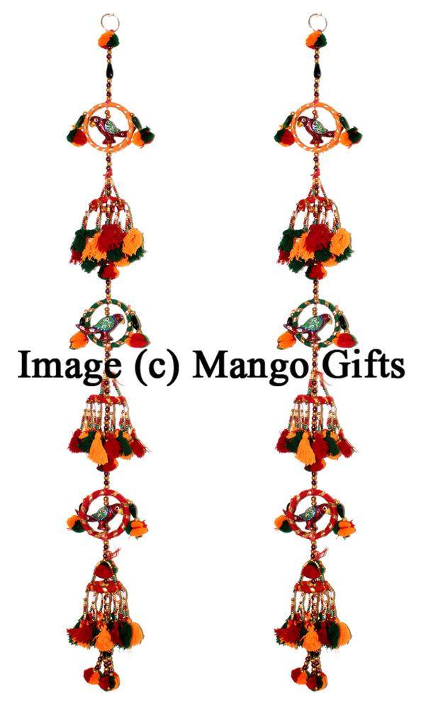 Indian Handmade Door Hanging Mobile String decoration Home Decor Ornaments 2 Pcs  sc 1 st  Pinterest & 105 best Handmade door hangings string decoration images on ...