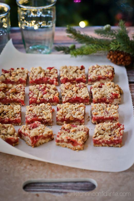 Ginger Cranberry Shortbread Bars Recipe — Dishmaps