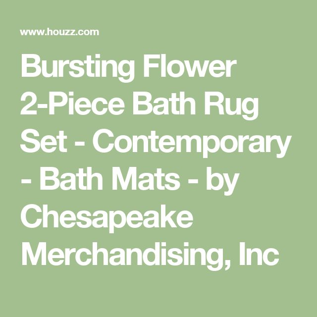 Bursting Flower 2 Piece Bath Rug Set   Contemporary   Bath Mats   By  Chesapeake