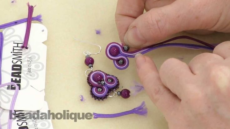 How to do Soutache Bead Embroidery: Part 3 How to Add a Side Bead and to...