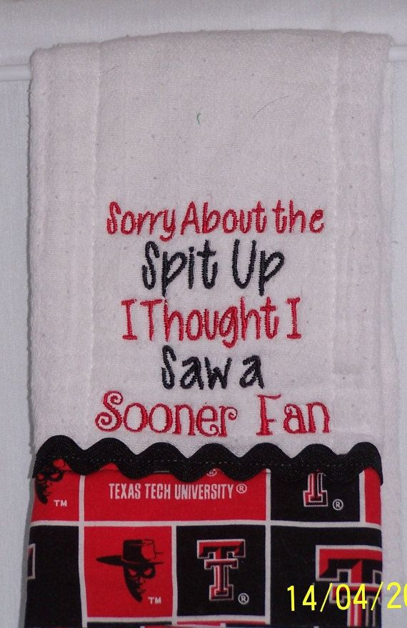Texas Tech University/College/Red Raiders by TerrysSewing on Etsy