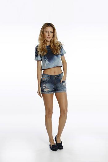 Blusa Jeans Feminina