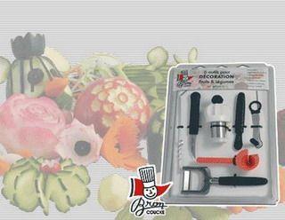 Bucatarie :: Prelucrare :: SET 6 USTENSILE PENTRU ORNAT | DECORAT LEGUME - Produse bucatarie, accesorii bucatarie, echipamente bucatarie