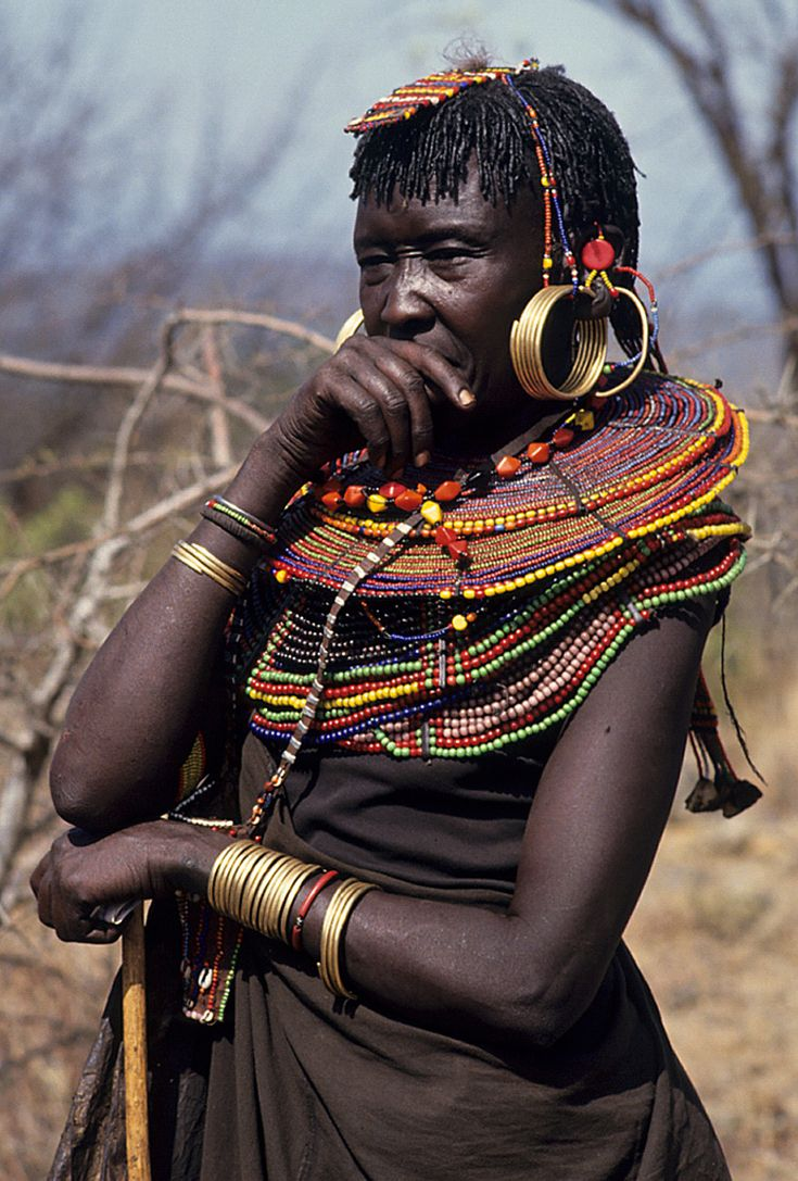 Africa | Pokot woman.  North of Baringo.  Kenya | ©Olivier Darmon