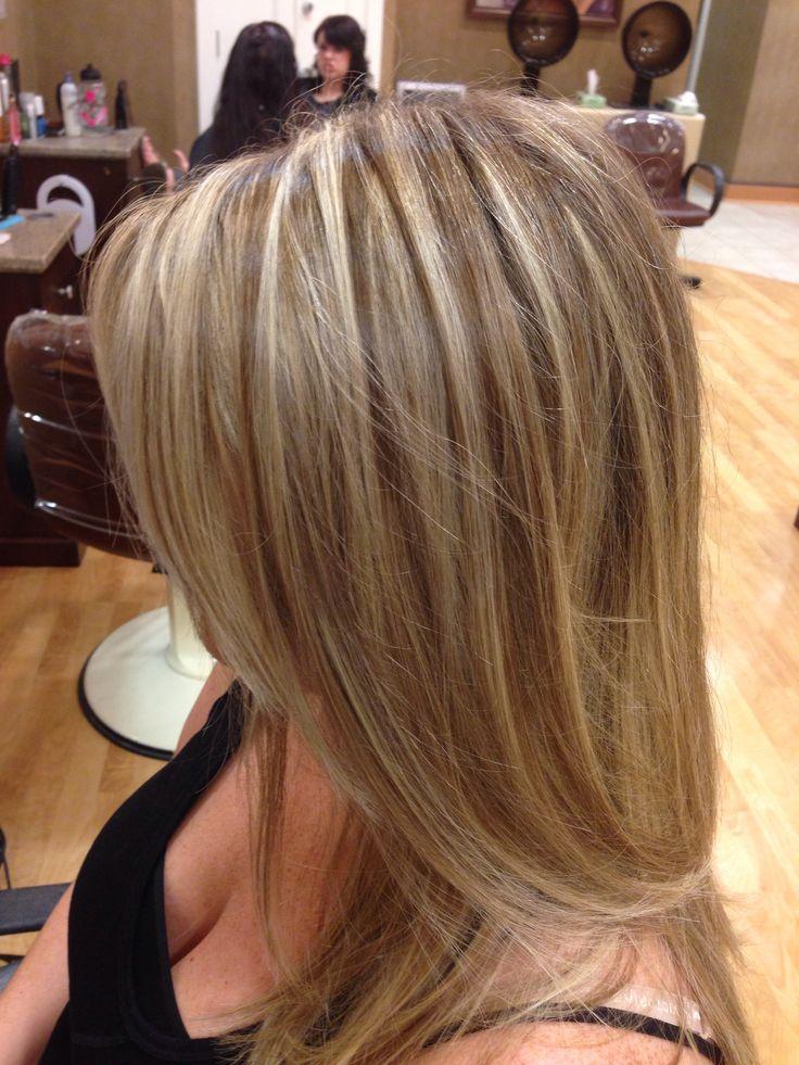 Highlight /lowlight w/ matrix mocha & pearl Bronde hair