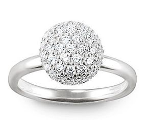Thomas Sabo Rings Glam & Soul Silver Pavé Dome Ring Charm