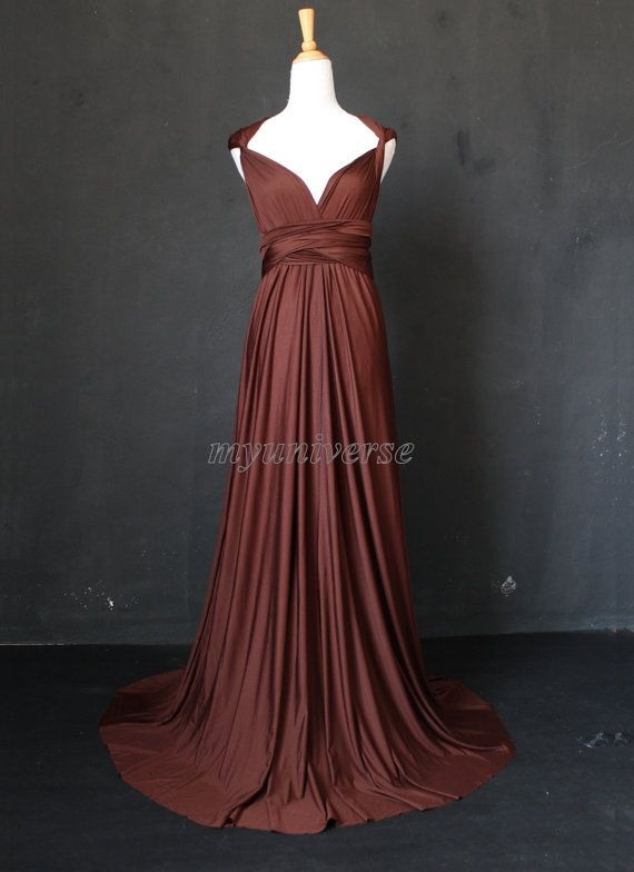 Infinity Dress Bridesmaid Dress Wrap Convertible Dress Brown