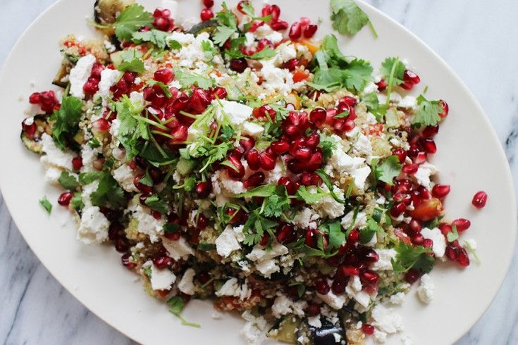 Culy Homemade: quinoasalade met gegrilde groenten, granaatappelpitjes en feta - Culy.nl