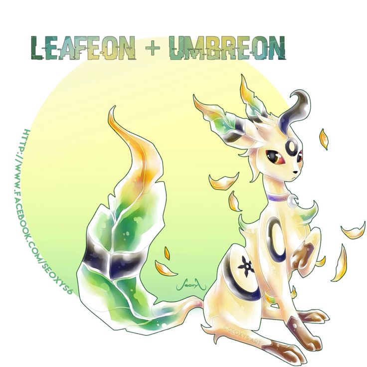 Pokemon fusion of Leafeon and Umbreon. I love the mystical feel to it.