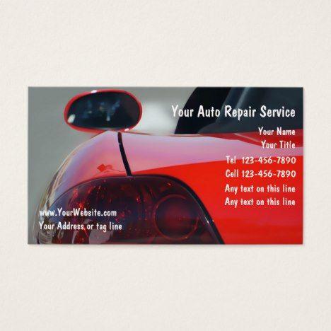 Sporty Automotive Business Cards #autorepair #businesscards #bodyshop