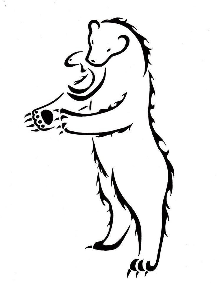 21 best Bear Tattoo Stencils images on Pinterest | Bear ...