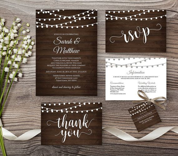 Hey, I found this really awesome Etsy listing at https://www.etsy.com/listing/269896984/wedding-invite-template-rustic-wood