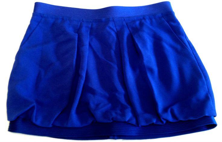 BCBG Maxazria Skirt 12 Bubble Blue Woven Mini New #BCBGMAXAZRIA #Bubble