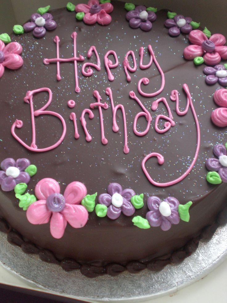 Chocolate birthday cake - yum!