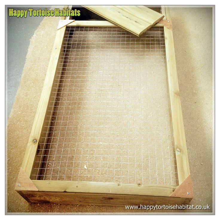 Handmade pressure treated wooden Tortoise Run with mesh lid to keep tortoise safely in and pests out for sale in the UK