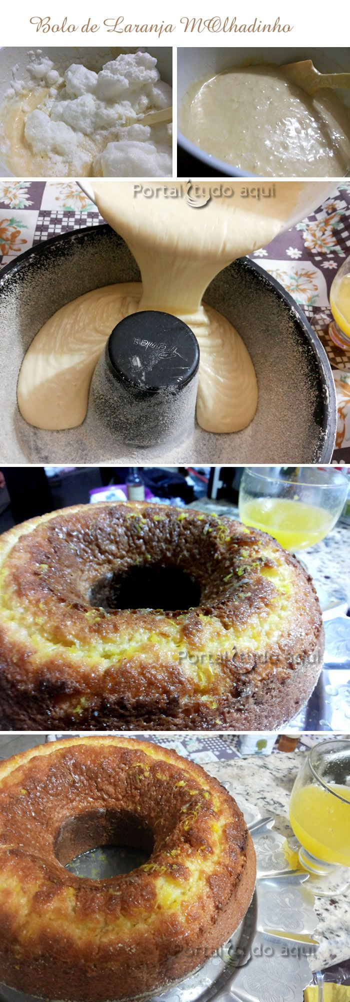 Receita de bolo de laranja molhadinho