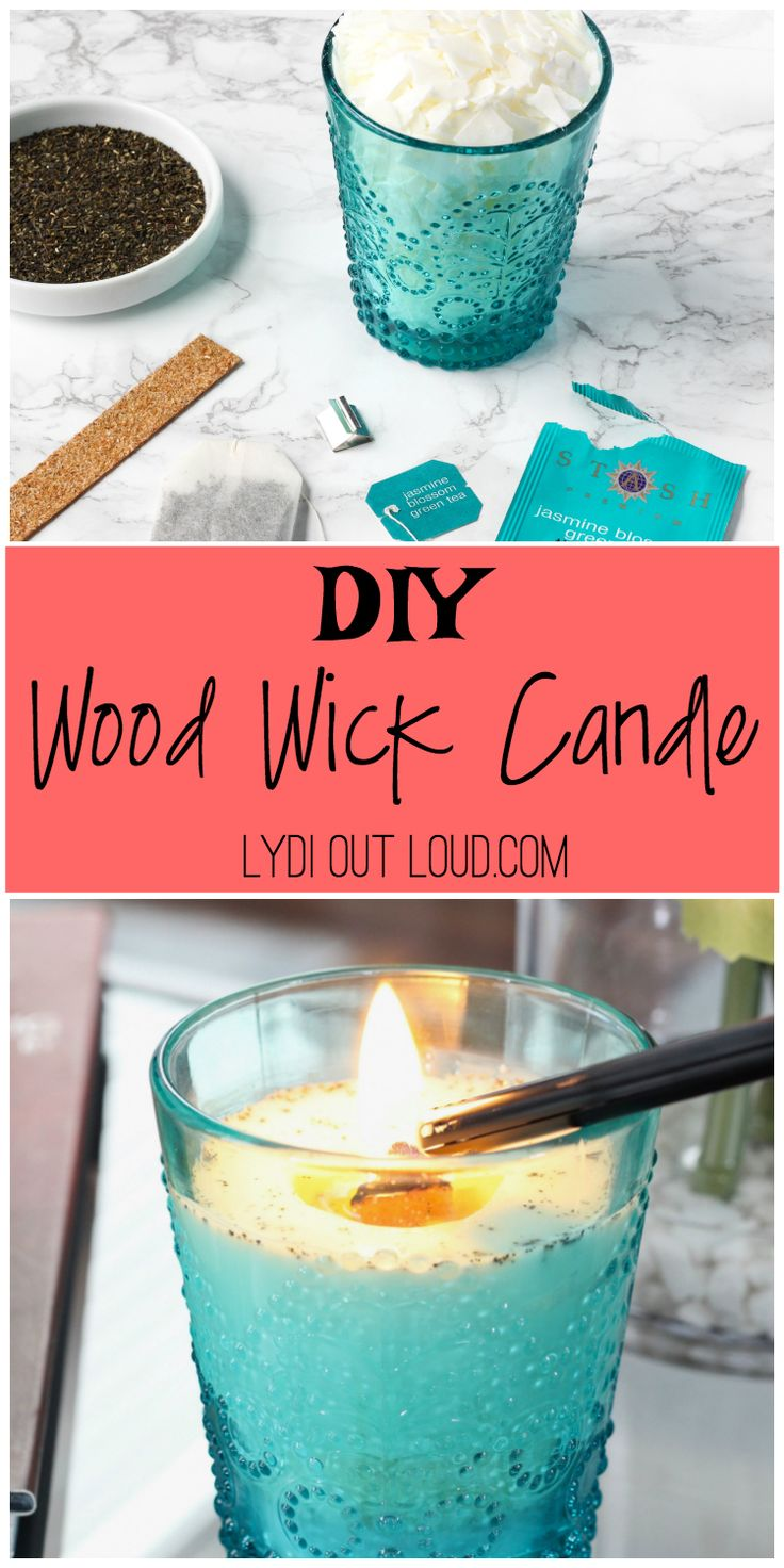 DIY Wood Wick Candle