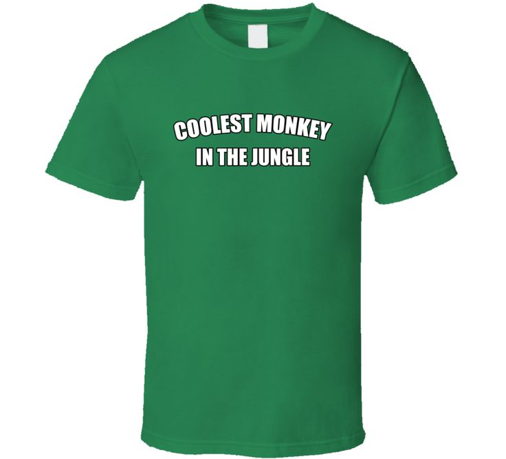 Coolest Monkey In The Jungle Political T-shirt