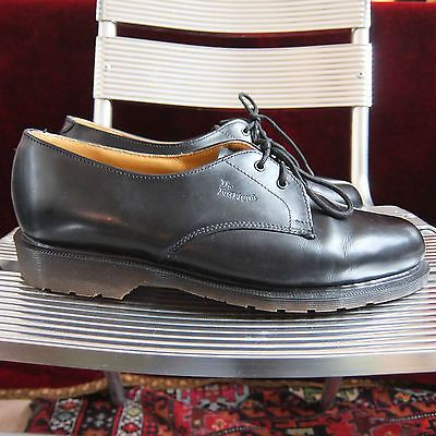 Dr-Martens-Zapatos-De-Cuero-Negro-Aire-wair-Talla-8-Hecho-En-Reino-Unido-Ingles-DMs