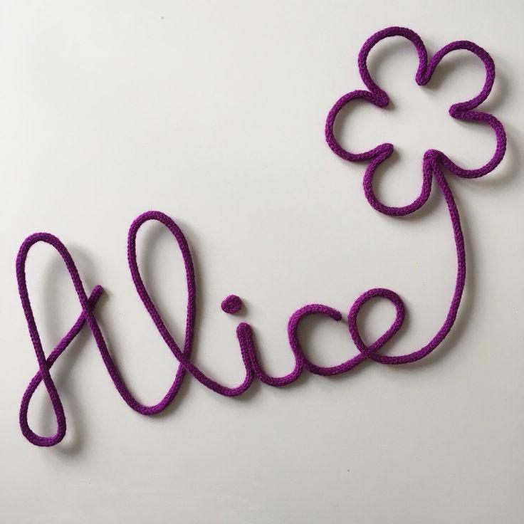 Alice + fleur - violet Décoration enfant , cadeau anniversaire, cadeau original