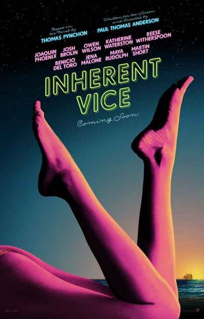 A great movie poster for Inherent Vice - Paul Thomas Anderson's 2014 film adaptation of Thomas Pynchon's wild novel! Ships fast. 11x17 inches. Need Poster Mounts..?