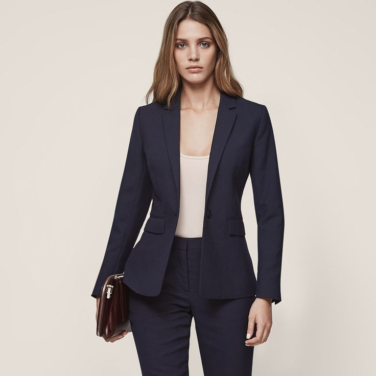 Faulkner Jacket  Single-Breasted Blazer - REISS : The faulkner jacket single-breasted blazer in  plays its part in our iconic blazer collection and is available to buy online at REISS.