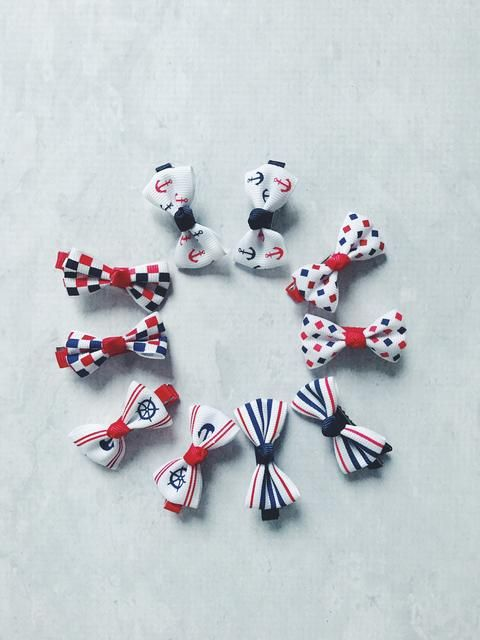 NAUTICAL HAIR CLIPS - SET OF 2    #MamaFashionMe - Aussie Online Store with Beautiful Accessories for Girls + Some for Boys