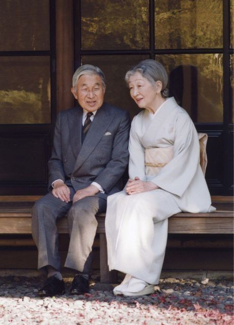 "Their Majesties the Emperor and Empress∥ beautiful and elegance ""Kimono"" style."