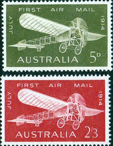 Australia 1964 Plane First Airmail Set Fine Mint
