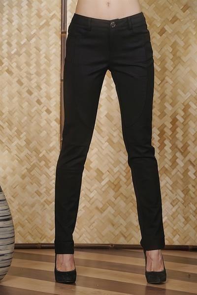 Женские черные узкие брюки