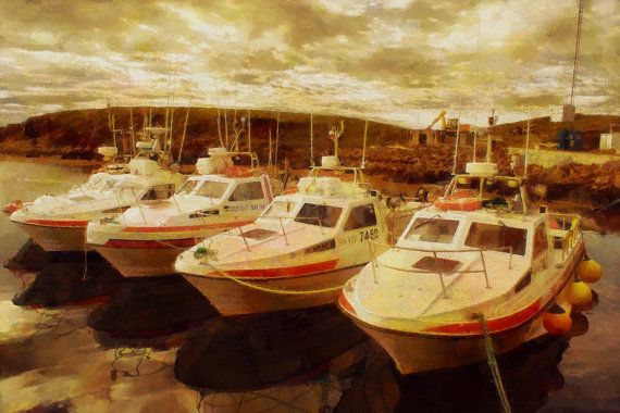 Stretched Canvas Print of Flatey Harbour by ArtbyOlafur on Etsy, $85.00