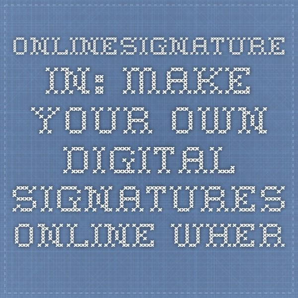 make your signature online