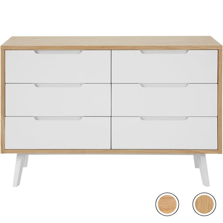 Jenson Wide Chest of Drawers, White and Oak from Made.com. Light Wood. NEW The quality's evident from the high solid oak content, which was crafted ..