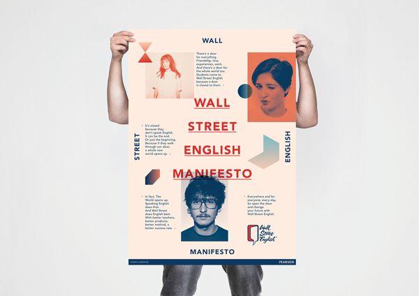 wall street english manifesto by luca fontana via behance on wall street english id=52496