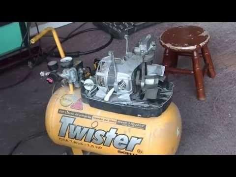 DIY - How To Make A High Pressure Air Setup From A Refrigerator - YouTube