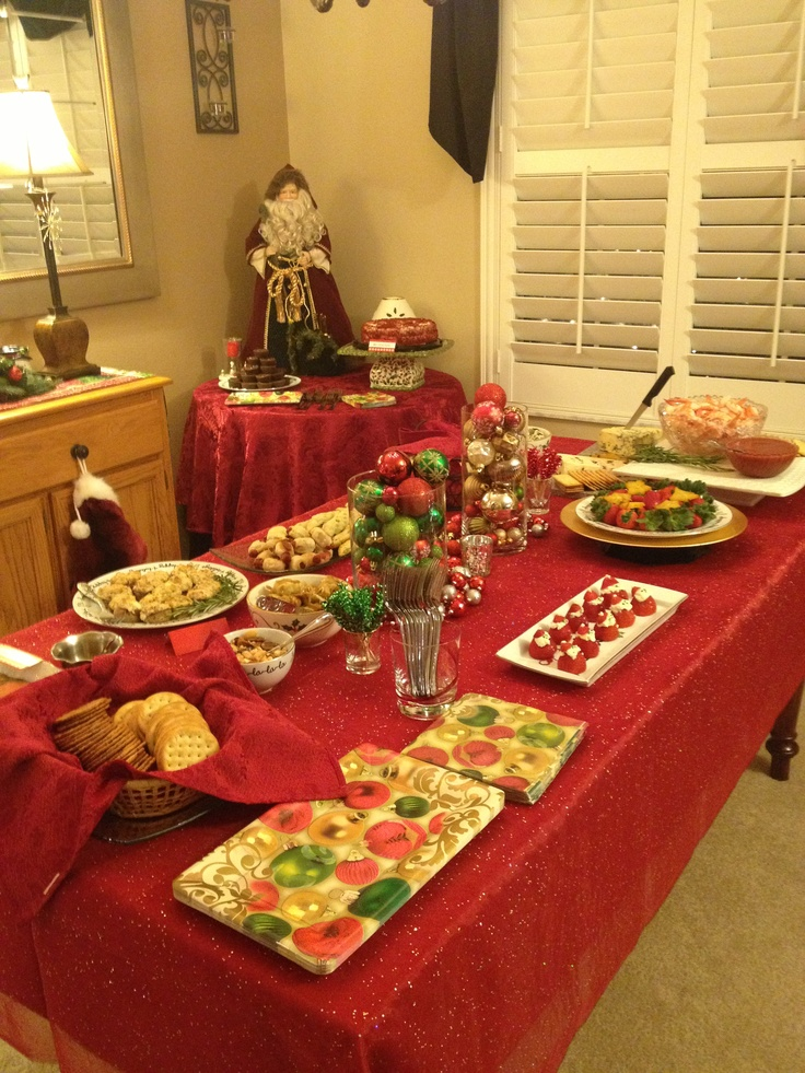 Christmas Party Ideas Pinterest Part - 33: Christmas Party Food Table.