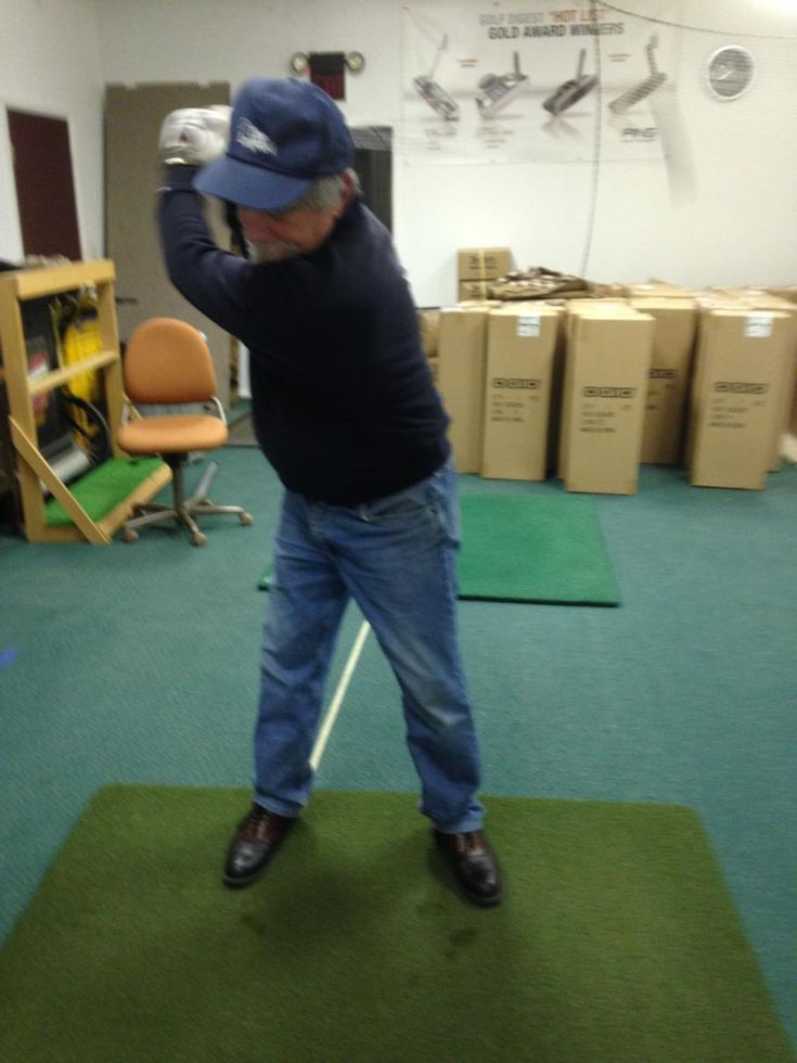 "The ""Light came on"" for Phil as he figured out the proper clubface position. Thanks to Frank Guastella, PGA Master Professional from Michigan for sending this in. Glad Game-inglove is becoming your ""Go to"" #Golf Training Aid Frank and thanks for all the support with GiG!! #gameinglove Game-inglove www.game-inglove.com laser swing trainer"