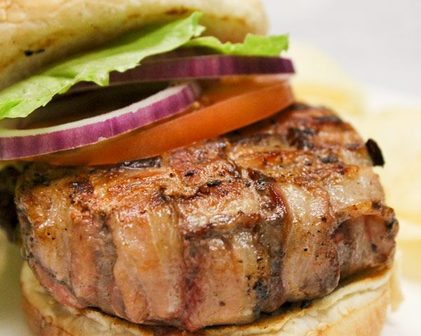 Bacon Wrapped Hamburgers Recipe — Dishmaps