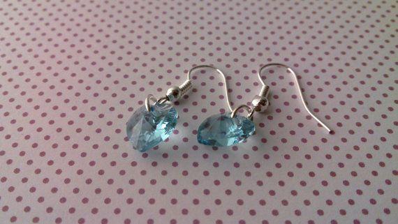 Heart earringsBlue Wedding