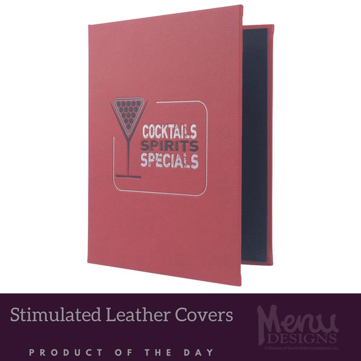 More elegant and timeless then any other menu material, our simulated leather menu covers are the perfect choice for any upscale environment! Enhance your customers dining experience with a touch of class, courtesy of Menu Designs! #leather #menu #cover #menucover #productoftheday #pickoftheday #menudesigns #material #classy